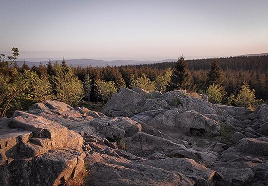 Sonnenberg-Sankt-Andreasberg-Harz - Sonnenuntergang